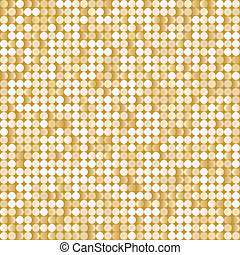 Seamless background with shiny golden paillettes