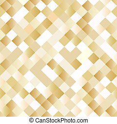 Seamless background with shiny golden squares