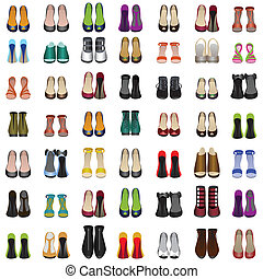 seamless background with shoes