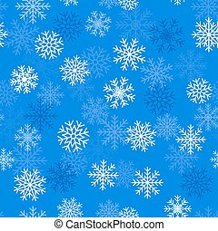Seamless background with snowflakes, vector illustration