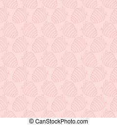Seamless background with strawberries - vector illustration
