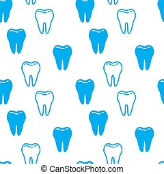 Seamless background with Teeth. Vector illustration.