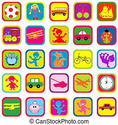 Seamless background with toys for kids