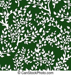 Seamless background with tree leafs
