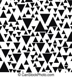 Seamless background with triangles. Modern minimalistic style. One color black on white. Geometric pattern.