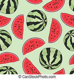 Seamless background with watermelon.