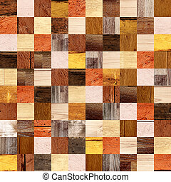Seamless background with wooden patterns of different...
