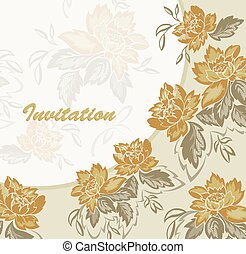 Seamless background with yellow flowers