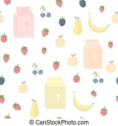 Seamless background with yoghurt