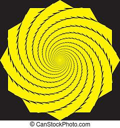 Seamless Background Yellow Hypnotic Spyral