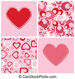 Seamless backgrounds and heart.