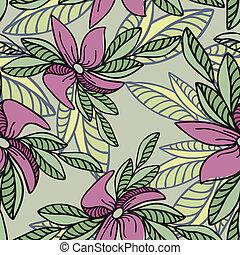 seamless, bakgrund, med, rosa blommar