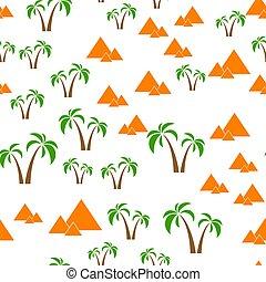 seamless, bakgrund, pyramider