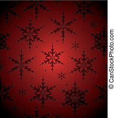 seamless, bakgrund, snöflinga