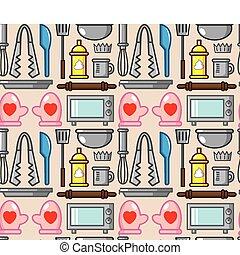 seamless baking pattern
