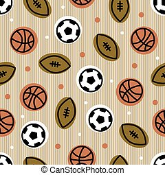seamless ball from sport pattern background