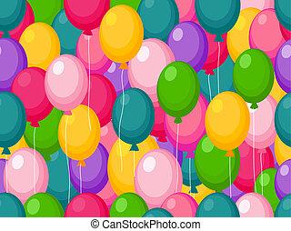 seamless, balloon, φόντο