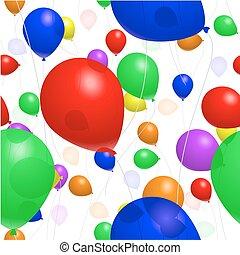 Seamless balloon background - Balloon background in rainbow...
