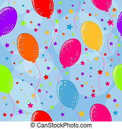 Seamless balloons background