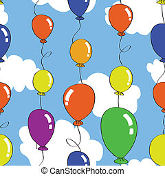 seamless baloon pattern - Seamless pattern with colourful...