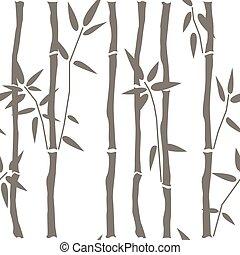 Seamless Bamboo Pattern. Vector Illustration