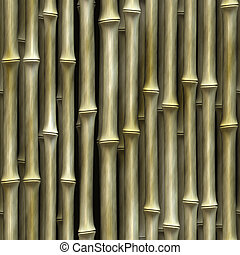 Seamless Bamboo Shoot Plant Wall Background