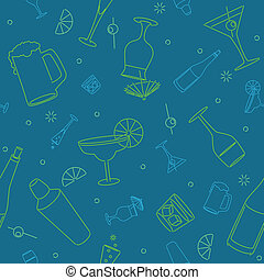 Seamless bar background - Seamless background of stylized...