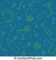 Seamless bar background - Seamless background of stylized...