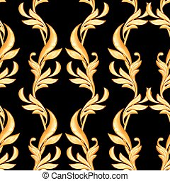 Seamless baroque pattern 22