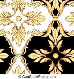 Seamless baroque pattern 3