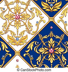 Seamless baroque pattern 32