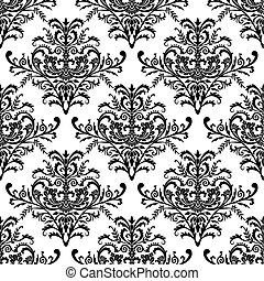 Seamless baroque wallpaper, vector - Seamless antique...