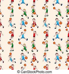seamless basketball pattern