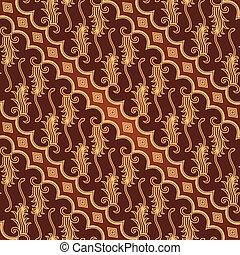 Seamless Batik Parang Barong Patter - Seamless batik parang...