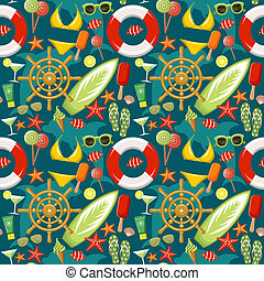 Seamless beach pattern