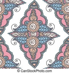 Beautiful Indian floral ornament can be used as a greeting card