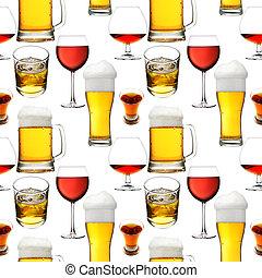 seamless, bebidas, álcool