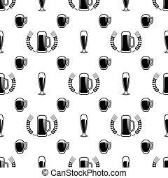 Seamless beer pattern