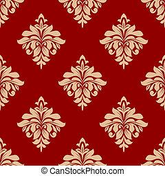 Seamless beige floral pattern