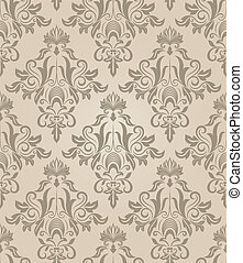 Seamless beige retro vector pattern.