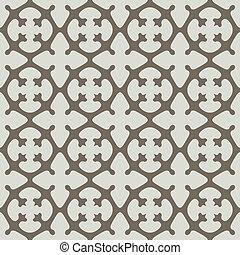 Seamless beige symmetrical vector pattern.