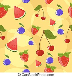 Seamless berry background