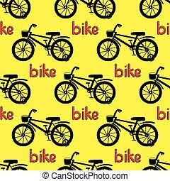 seamless, bicikli, pattern.