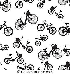 seamless bicycle bike vector