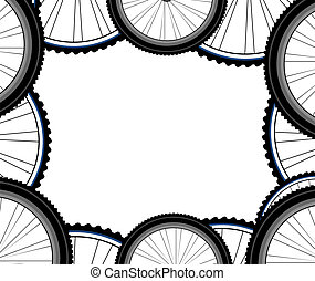 Seamless bicycle wheels pattern