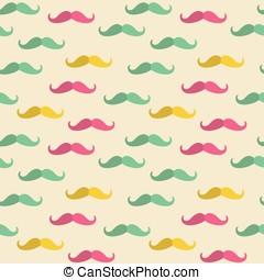 seamless, bigode, padrão