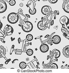 seamless bike pattern