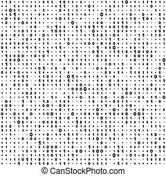 Seamless Binary Code Background. Vector Monochrome Texture