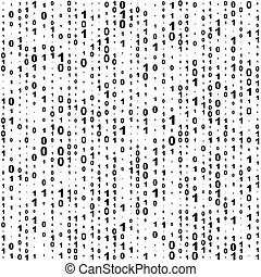 Seamless Binary Code Background. Vector Monochrome Texture