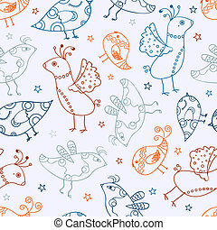 Seamless Bird Silhouette Pattern